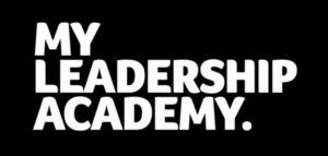 "Logo for ""MY Leadership Academy"". It's just the words in white text on black background."
